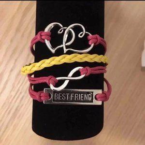 3/$15 ** Best friend infinity 2 hearts bracelet